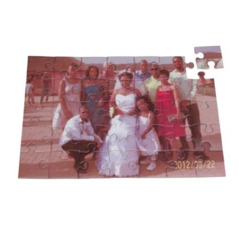Personalised Glossy Jigsaw Puzzle 19x28cm - 35pcs